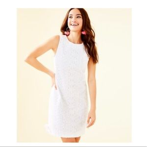 Lilly Pulitzer white melani shift dress